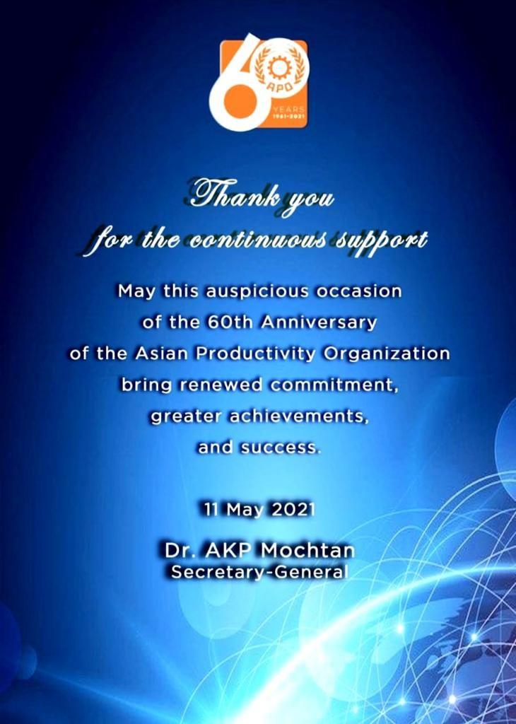 Kỷ niệm 60 năm thành lập Tổ chức Năng suất Châu Á